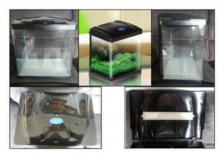 60L Glass Aquarium - Black