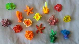 Coral Set of Ornaments 15 Pieces