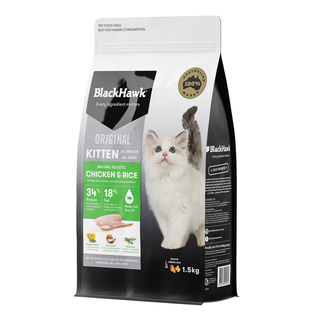 Black Hawk Kitten Chicken and Rice 1.5kg
