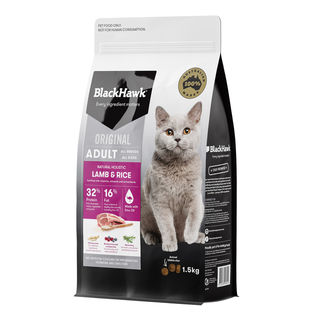 Black Hawk Cat Lamb and Rice 1.5kg