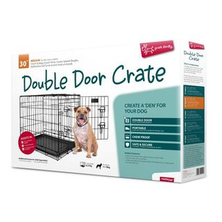 Yours Droolly Double Door Dog Crate 30