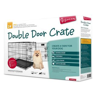 Yours Droolly Double Door Dog Crate 24