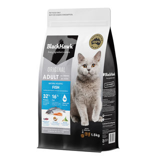 Black Hawk Natural Cat Food Fish 1.5kg