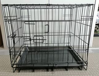 Collapsible Dog Metal Crate/Cage - 24