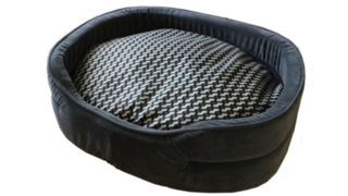 Deluxe Oval Bed Grey - Medium