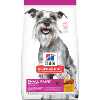 Hill's® Science Diet® Adult 7+ Small Paws™ Chicken Meal, Barley & Brown Rice Recipe dog food 1.5kg