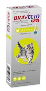 Bravecto PLUS Small Cat 1.2-2.8kg