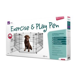 Yours Droolly Exercise Pen with Door 42