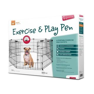 Yours Droolly Exercise Pen with Door 30