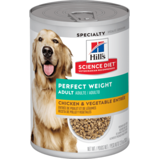 Hill's' Science Diet' Adult Perfect Weight Chicken & Vegetable Entr'e dog food 363g